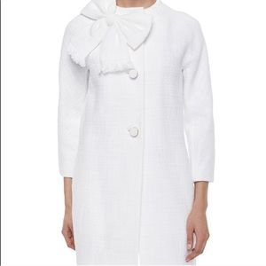 Kate Spade Dorothy tweed bow coat